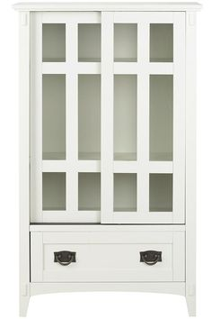 Lovely White Storage Cabinet with Doors