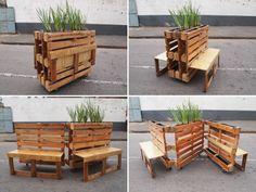 Holz Paletten Möbel Pflanzkasten Gartenbank Design