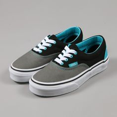 vans atwood womens black gray teal