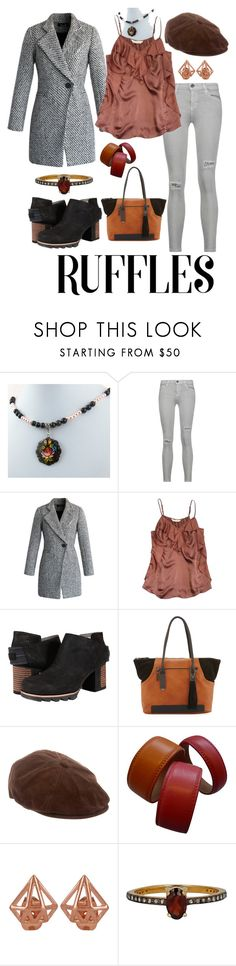 """""""Untitled #1705"""" by moestesoh ❤ liked on Polyvore featuring Current/Elliott, Chicwish, Rebecca Taylor, SOREL, French Connection, Miu Miu, Etienne Aigner and Chan Luu"""