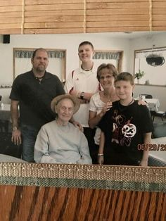 Dad with Jeff, Suzi, Trevor and Travis before his passing