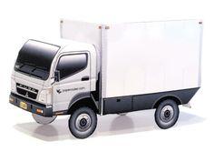 Mitsubishi Fuso Super Great Dump Truck (2007) Blueprint