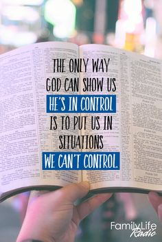 My God is in control.