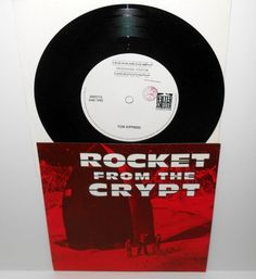 "ROCKET FROM THE CRYPT bad ninja 7"" Vinyl Record , helter skelter records #punkGarageRockPunkNewWave"