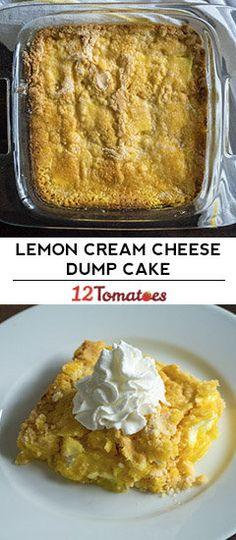 4-Ingredient Lemon Cream Cheese Dump Cake