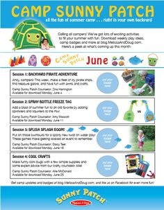 Camp Sunny Patch June Activities Printable. Join Melissa & Doug's virtual summer camp today! #CampSunnyPatch