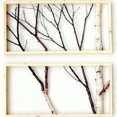 Fall DIY: How to make Framed Branches Decor (Video). Make this unique organic wall art to decorate your home.