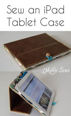 Sew an iPad case with this tutorial - Book Style iPad Case Tutorial by http://mellysews.com
