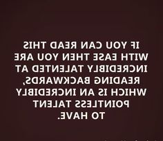 If you can read this....