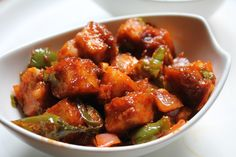 Most of us stick to just two or three paneer recipes.Here are 10 yummy-licious paneer recipes that will leave you wanting for more. Paneer Tikka is easy to prepare and delicious to eat. Paneer Chilli Dry, Paneer Dry Recipe, Paneer Recipe In Hindi, Paneer Recipes, Veg Recipes, Indian Food Recipes, Vegetarian Recipes, Cooking Recipes, Indian Foods