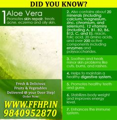 Aloevera Benefits!