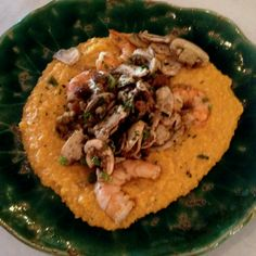 The very popular shrimp and grits at City Cafe in Oxford.
