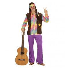 Disfraz de Hippie Multicolor para Hombre #Disfraces #Hippies