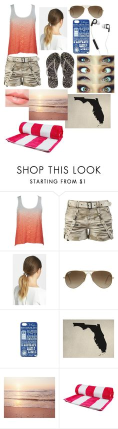 """""""At Florida For Spring Break!"""" by storywritter1251 ❤ liked on Polyvore featuring Tasha, Havaianas, Ray-Ban, Hot Topic, WALL and Skullcandy"""