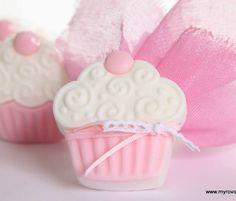 Μπομπονιέρα Βάπτισης (Soap Tales) σαπουνακι cupcake