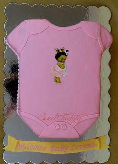 Baby Girl Ethnic Shower cake - Baby cloth cake