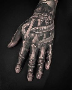 Should you get a hand tattoo? Things to consider before inking & hand tattoo designs that look amazing. Full Hand Tattoo, Side Hand Tattoos, Hand Tattoos For Women, Small Hand Tattoos, Finger Tattoos, Unique Tattoos, Mens Hand Tattoos, Bone Hand Tattoo, Colorful Tattoos