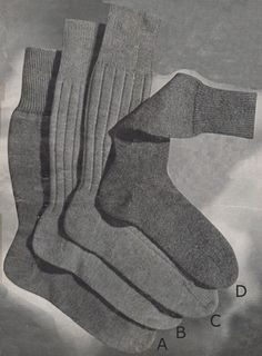 Man& Plain Socks with French Heel and Flat Toe from Patons Knitting Book No. Crochet Socks, Knitted Slippers, Knit Or Crochet, Knitting Patterns Free, Knit Patterns, Free Knitting, Sock Knitting, Sock Yarn, Free Pattern