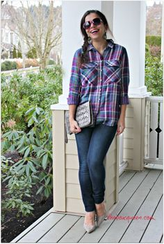 Wantable January 2016 Style Edit Review, Winter Outfit Idea, Winter Fashion, How to Wear a Plaid Shirt  #wantable