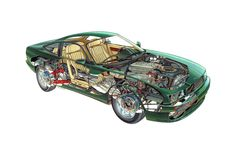 Aston Martin Virage Cutaway http://silodrome.com/aston-martin-virage-cutaway/