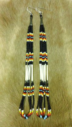 7 Long Black Beaded Porcupine Quill by prettyuniquedesigns2, $20.00