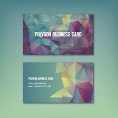 coloured with polygonal shapes business card Popular Logos, Logo Templates, Business Cards, Vector Free, Graphic Design, Creative, Shapes, Cards, Carte De Visite