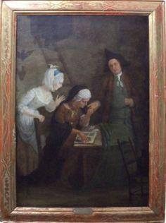 "TROY, JEAN FRANÇOIS (FRANÇA, 1679 - ROMA, 1752) - ""La Diseuse de Bonne Aventure"", óleo s/tel"