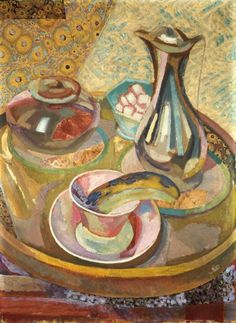 Fry, Roger - Still Life with Coffee Pot - Bloomsbury Group - Still Life - Mixed technique