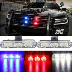 Best Quality 2x3/Led Ambulance Police light 12V Car Light Flashing Firemen Lights DC Strobe Warning light Car-Styling