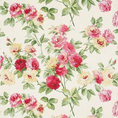 Rose / Yellow - DVIWEG101 - Eglantine - Vintage - Sanderson Wallpaper