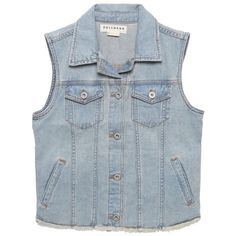 Cropped Denim Foam Wash Vest (67 CAD) ❤ liked on Polyvore featuring outerwear, vests, tops, jackets, denim vest, blue denim vest, denim waistcoat, blue vest and cropped denim vest