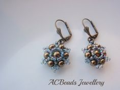 Vintage-Inspired Beadwoven Earrings made with Swarovski Pearls and Toho Seed Beads #etsy #handmade
