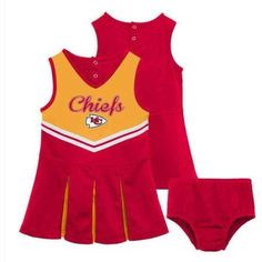 NFL Kansas City Chiefs Toddler Cheerleader Set, Toddler Girl's, Size: 3 Years, Red