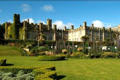 Tregenna Castle Hotel has a picturesque view of St. Ives Bay, Cornwall.  #romantic #getaway
