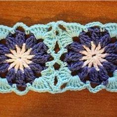crochet motif with diagram.