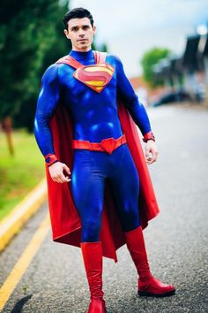 Captain Batman Cosplay Armor, Male Cosplay, Best Cosplay, Cosplay Costumes, Superman Cosplay, Superhero Cosplay, Mens Leotard, Superman Man Of Steel, Cosplay Characters