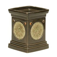 Lotus Full-Size Scentsy Warmer    Deep, mossy green is complemented by a pale floral medallion, for which Lotus is aptly named.    Save 20% on this warmer while supplies last!  https://karinasscents.scentsy.us/Scentsy/Buy/ProductDetails/DSW-LOTU