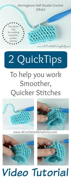 2 Quick Tips for working the Herringbone Half Double Crochet Stitch (Hhdc) Frustration-Free ~ Video Tutorial