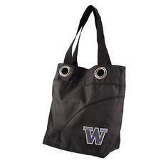 Washington Huskies NCAA Color Sheen Tote Black