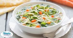 Slow-Cooker Veggie & Zoodles Soup... lots of nutrients for very little work or calories!
