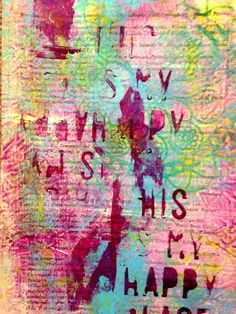 Gelli Art prints on fabric (by Sylwia Gryczuk) And I am back with myaddictionof Gelli art Prints. This time I printed on fabric, vintage book pages and newspaper