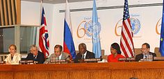 Can you trust one single person in the government? Here's a photo of Condoleezza Rice at the United Nations in 2005 with the numbers 666 behind her. Notice how the logo below was cleverly designed, celebrating the UN's 60th anniversary, to appear as 666 above. Satan does deceive the whole world. http://www.jesus-is-savior.com/False%20Religions/Illuminati/beast_system.htm