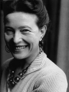 "Simone De Beauvoir - ""I am awfully greedy. I want everything from life."""