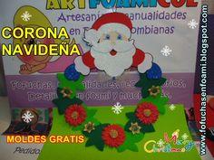 Displaying CORONA+NAVIDEÑA+PAPA+NOEL+MOLDES+ARTFOAMICOL+MANUALIDADES.JPG