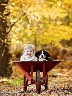 Baby and #dog  #kids