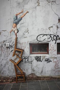Ernest 'Zach' Zacharevic. The Lithuanian-born artist not only takes the surfaces and immediate surroundings into account when planning each mural, but also reflects the culture of the setting for totally unique, spontaneous and yet targeted infusions of color, humor and fun into the urban landscape.