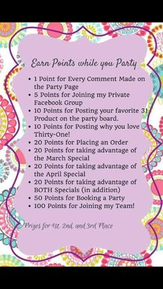 Party Game  Join my Team http://www.mythirtyone.com/nicholelmorgan
