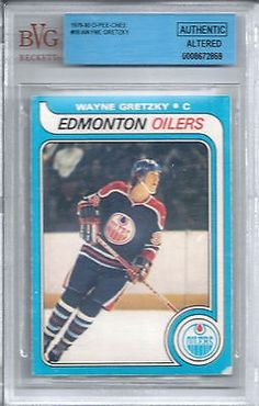 cool 1979 OPC Hockey #18 Wayne Gretzky Rookie Card BVG Authentic O-Pee-Chee - For Sale