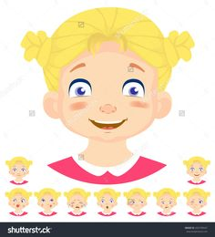 Set of human emotions. Facial expression. Set of emoticons. Flat vector illustration. Smile. Stock photography, images, pictures, Illustrations, ideas. Download vector illustrations and photos on Shutterstock, Istockphoto, Fotolia, Adobe, Dreamstime.