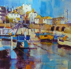 Reflecting Summer, St Ives by British Contemporary Artist Chris FORSEY